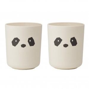 Liewood Bamboo Beker (2 pack) Panda Creme de la creme