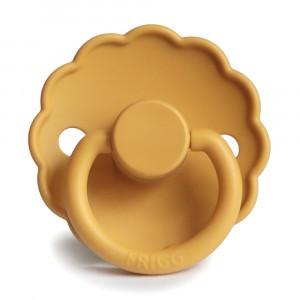 Frigg Fopspeen Fysiologisch Silicone 0-6 maanden Daisy Honey Gold