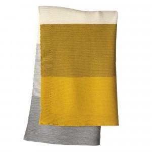Disana Gebreide Babydeken (100 x 80 cm) Curry/Gold