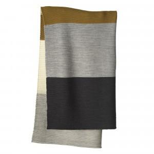 Disana Gebreide Babydeken (100 x 80 cm) Gold/Grey
