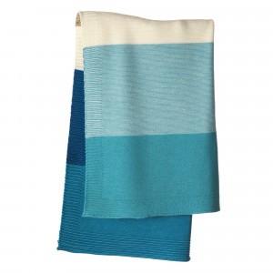 Disana Gebreide Babydeken (100 x 80 cm) Blue/Lagoon
