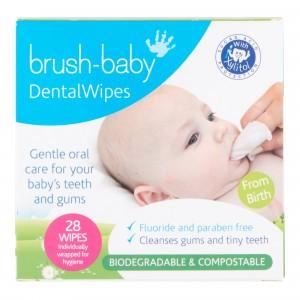 Brush Baby Dental Wipes (Biologisch Afbreekbaar) 28 stuks