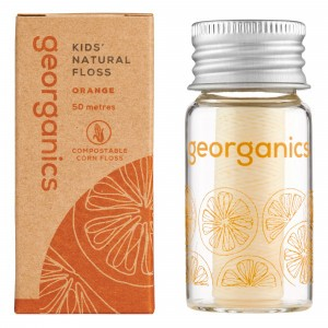 georganics Silk Flosdraad - Orange (met dispenser)