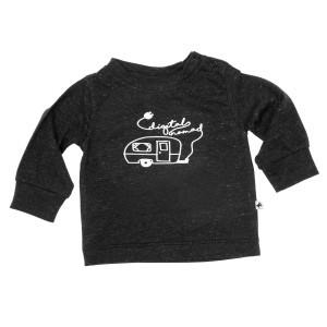 Cos I Said So T-shirt met Lange Mouwen 'Digital Nomad' Black Melange