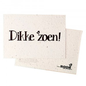 "Bloom Your Message Postkaart Flowers ""Dikke Zoen"""