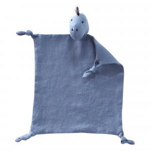 Kid's Concept Knuffeldoekje Dino 'Hugo' Blauw