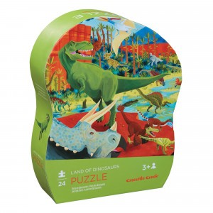 Crocodile Creek puzzel mini Dinosaurussen (24 stukken)