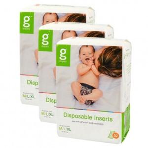 gDiapers Disposable Inserts - M-L-XL (5-16+kg) Voordeelpakket (3 pakken)