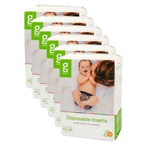 gDiapers Disposable Inserts - M-L-XL (5-16+kg) Voordeelpakket (6 pakken)