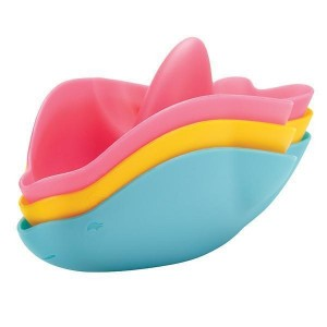 Ubbi Badspeelgoed stapelbare dolfijn
