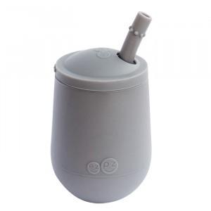 EZPZ Mini Cup + Rietje Donker Grijs