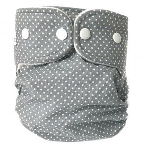 WeeCare Overbroekje Medium Dots Grijs (6-10 kg)