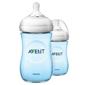 Avent Natural 2.0 Zuigfles 260 ml Blauw DUO