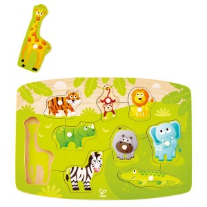 Hape Knoppuzzel Jungle (9 stukken)