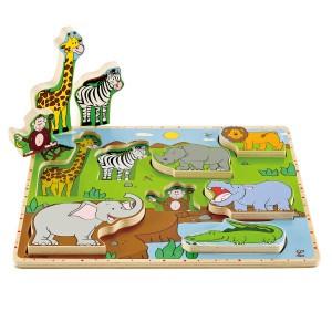 Hape Puzzel en Speel Wilde dieren (9 stukken)