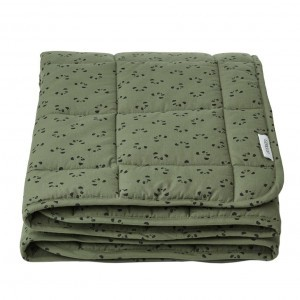 Liewood Quilted Deken Panda Hunter Green