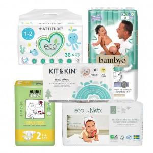 Testpakket Ecologische wegwerpluiers maat 2 (3-6 kg)
