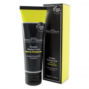 Edwin Jagger Scheercrème Normale/Gevoelige Huid Limoen & Granaatappel 75 ml
