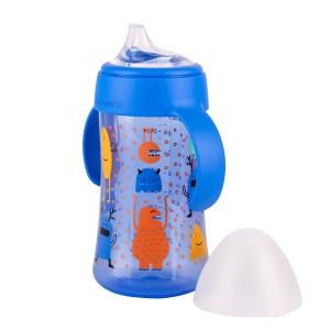 Suavinex Fles met handgrepen + 12 maand 270ml Booo! Blauw