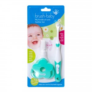 Brush Baby Set Mijn Eerste Tandenborstel en Bijtring