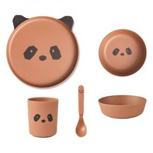 Liewood Bamboe Servies Panda Tuscany Rose