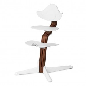 Nomi Highchair White / Oiled Walnut