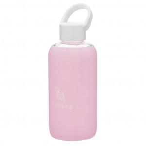 EcoViking Glazen Waterfles Pink Lavender