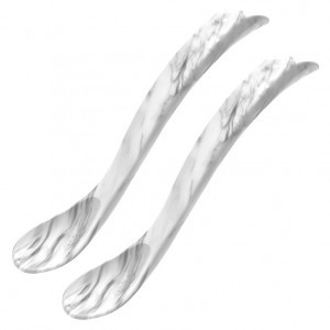 EcoViking Silicone Voedingslepels Marble + Marble