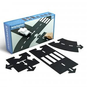 Waytoplay Flexibele Autobaan - Autoweg (16 stukken)
