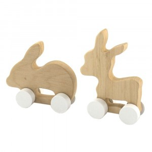 Pinch Toys Houten Set Mini Ezel en Konijn