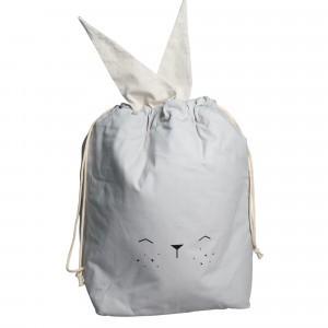 Fabelab Opbergzak Bunny Lichtgrijs