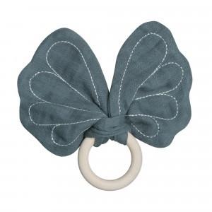Fabelab Bijtring Butterfly Blauwgrijs