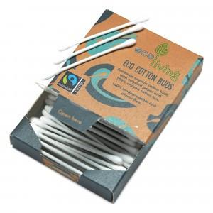 Ecoliving Biologische Fairtraide Wattenstaafjes (100 stuks)