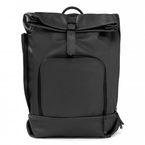 Dusq Family Bag Leather Night Black (incl. stroller straps)
