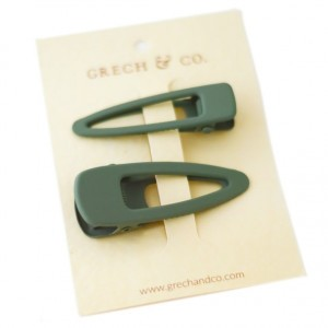 Grech & co. Haarspelden Matte Clips (set van 2) Fern