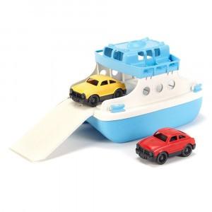Green Toys Ferry Boot Blauw met Auto's