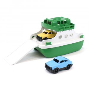 Green Toys Ferry Boot Groen met Auto's