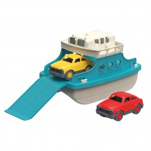 Green Toys Ferry Boot blauw/wit met Auto's