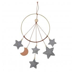 Filibabba Mobiel Dromenvanger Grijze sterren en maan