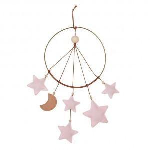 Filibabba Mobiel Dromenvanger Roze sterren en maan