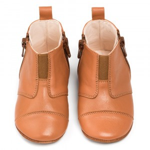 Dusq First Steps Schoentjes Leather Sunset Cognac