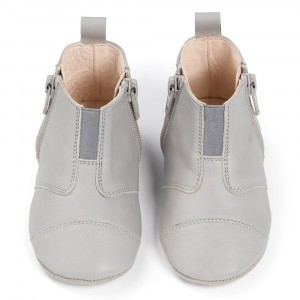 Dusq First Steps Schoentjes Leather Cloud Grey