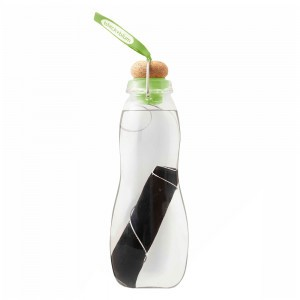 Black + Blum Eau Good Glazen Waterfles met koolstoffilter (650 ml) Lime