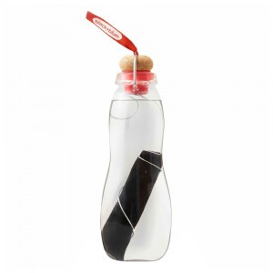 Black + Blum Eau Good Glazen Waterfles met koolstoffilter (650 ml) Red