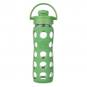 Lifefactory Glazen Drinkfles 475ml Flip Cap Groen