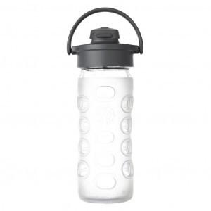 Lifefactory Glazen Drinkfles 475ml Flip Cap Transparant