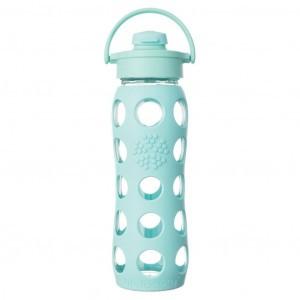 Lifefactory Glazen Drinkfles 650ml Flip Cap Mint