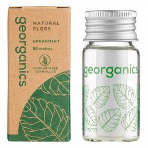 georganics Silk Flosdraad - Spearmint (met dispenser)