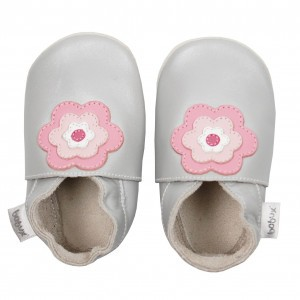 Bobux Soft Soles Flower Power Zilver