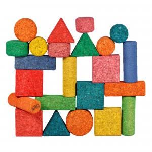 Korxx Kurk Blokken Form Mix - 28 gekleurde bouwvormen